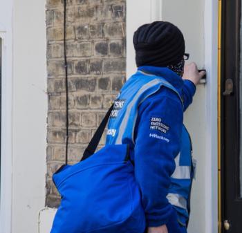 ZEN team ringing doorbell