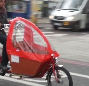 Cargo bike in street