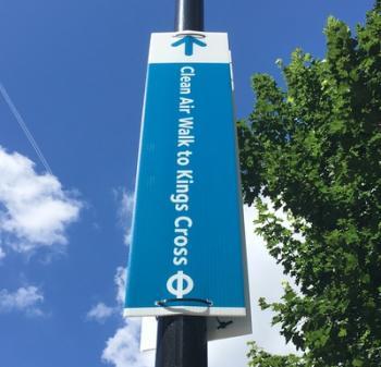 Clean Air Walk Sign
