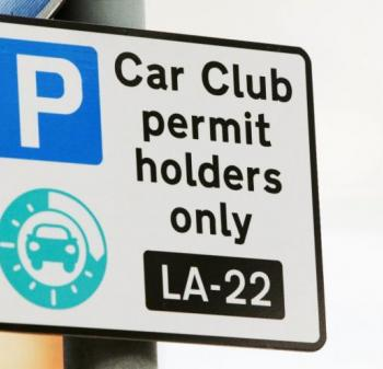 Car club sign